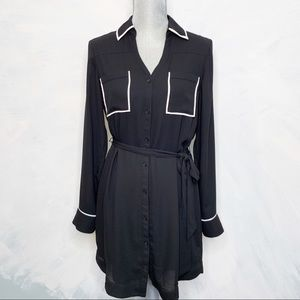 Classic Black Express Career Shirt  Dress
